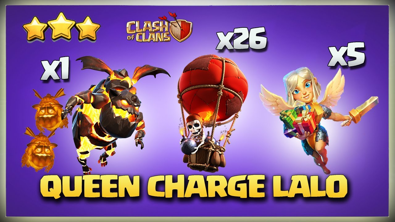 Th12 Queen Charge Lavaloon w SWAG* Th12 QC LaLo* Best TH12 3 Star Attack Strategy Clash of Clans COC