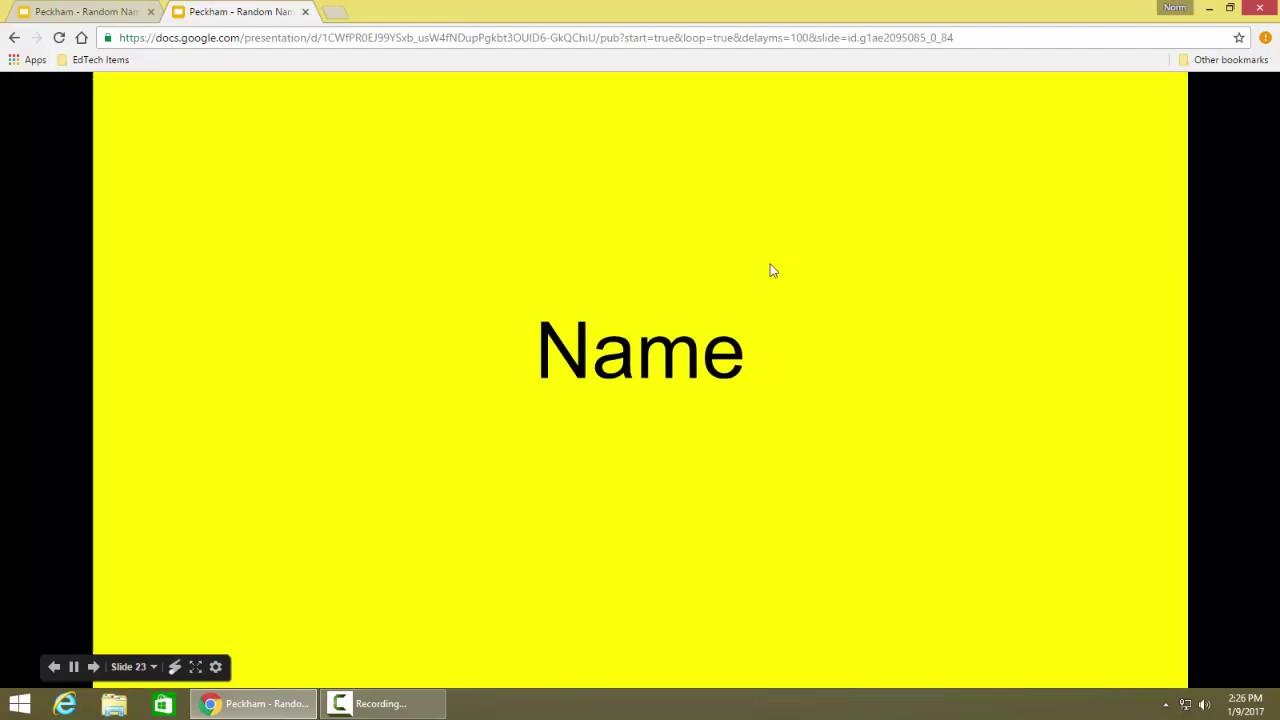 Random Name Generator - Google Slides