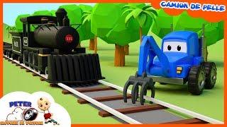 #CamionDePelle, Camion Benne, Train - Construire Des Rails Pour Les Enfants