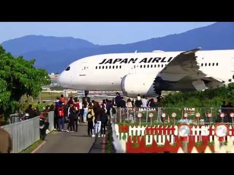 2018.03.12 松山機場 起飛 飛機巷 日航787 JA831J JL98 (TSA-HND)