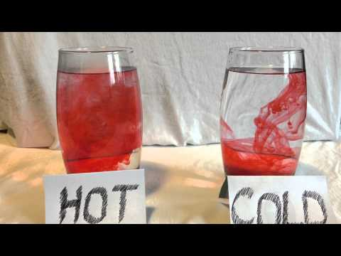 Hot and Cold Water with red food dye