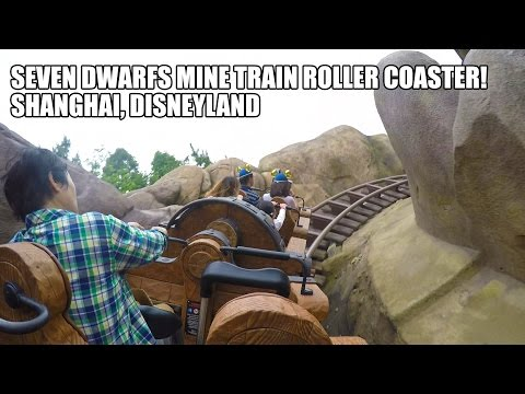 Seven Dwarfs Mine Train Roller Coaster POV Shanghai Disneyland China