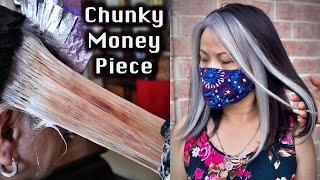 Silver Hair Chunk Money Piece on my Mom (Paranormal Hairtivity)