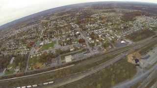 Harrisburg Pennsylvania Sam's Club and Walmart Flyover November 2013
