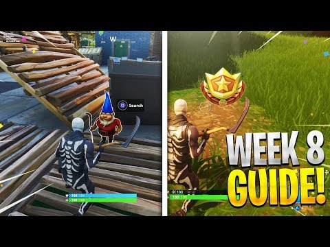 Week 8 Challenges Guide! Search between a Bear, Search Hungry Gnomes, Fortnite Week 8 Challenges!