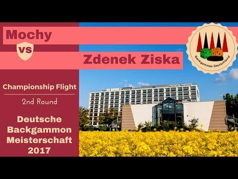 Deutsche Backgammon Meisterschaft 2017 Champion 2. Rnd Mochy vs. Zdenek Zizka