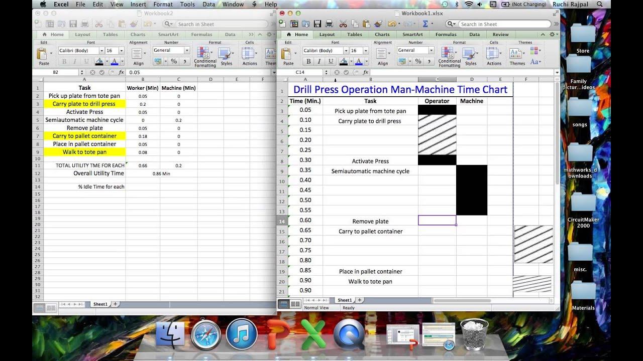 Man Machine Time Chart - Dress Press Example - YouTube