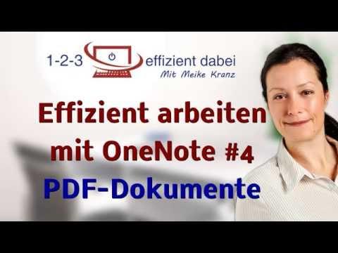 Effizient arbeiten mit OneNote #4 PDF einfügen und bearbeiten