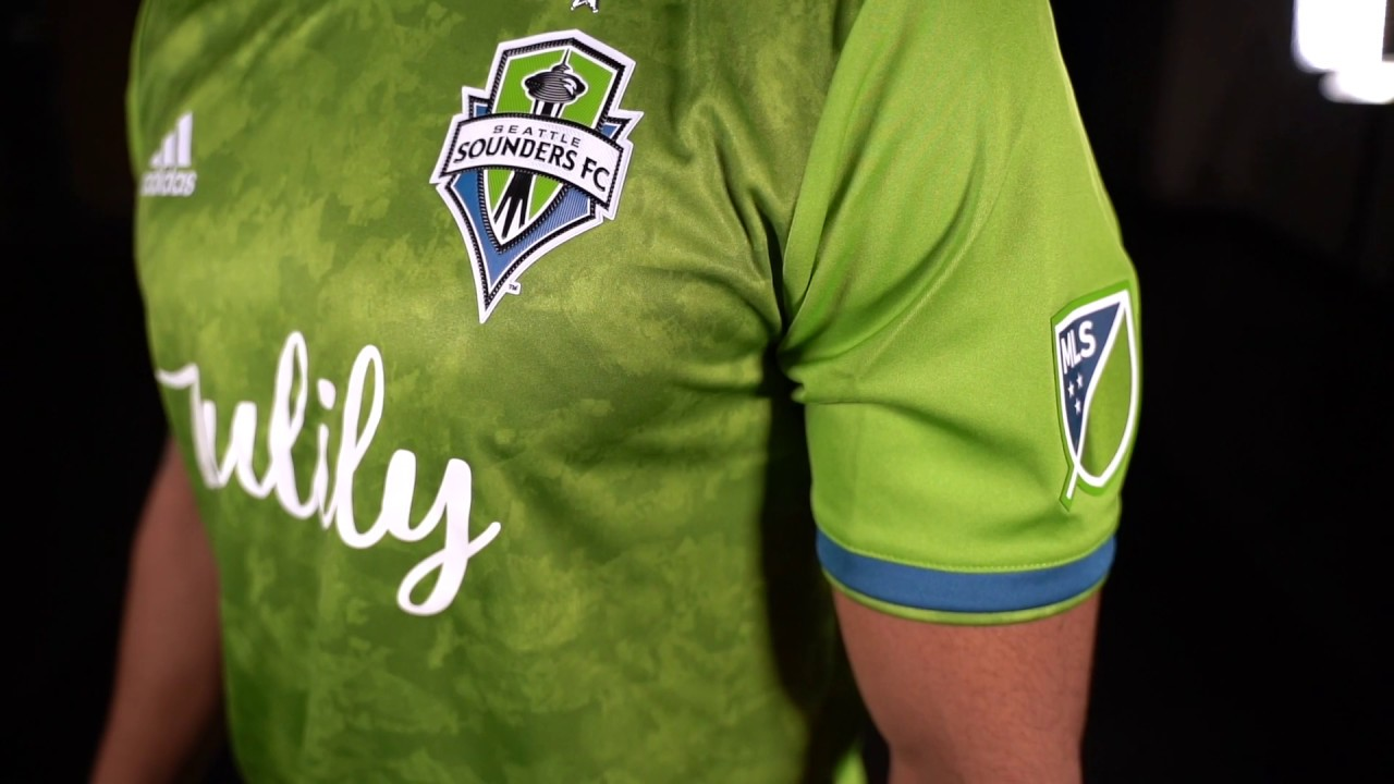 huge sale 10cb5 97f40 Seattle Sounders FC 2019 adidas Home Jersey Rotated