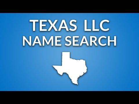 Texas LLC - Name Search