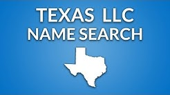Texas LLC - Name Search