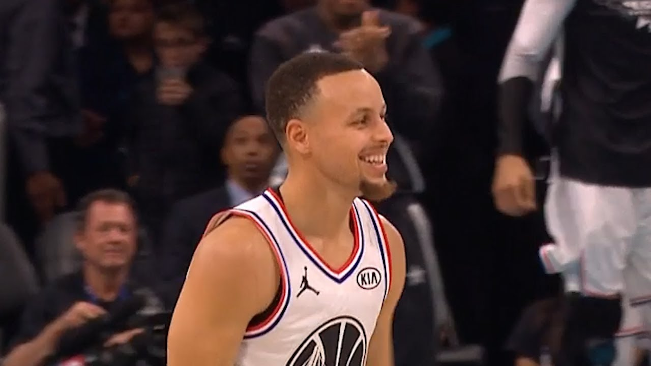 7c4f490b69e Stephen Curry Four Point Play on Klay Thompson - 2019 NBA All Star Game