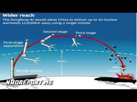 China 'tests terrifyingly powerful Dongfeng 41 nuclear missile