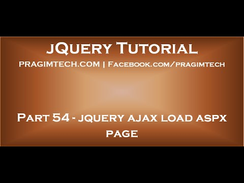 jquery ajax load aspx page