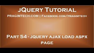 jquery ajax load aspx page Mp3