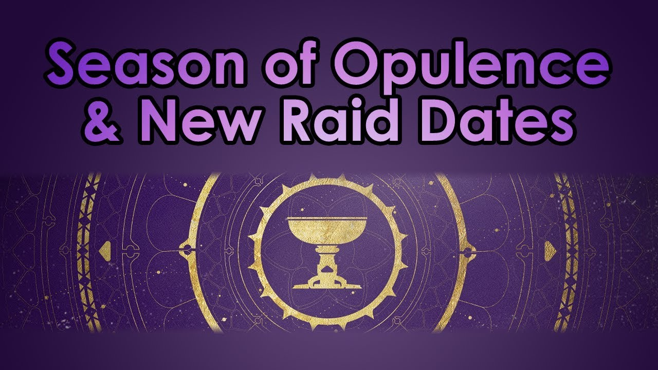 Destiny 2: Season of Opulence, New Raid Release Dates, & My Thoughts thumbnail