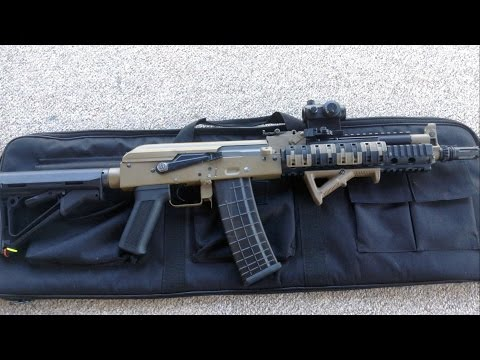 Airsoft My Custom Magpul PTS Beta Project Tactical AK Full Review & shooting