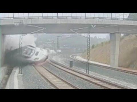 Первое видео катастрофы в Испании