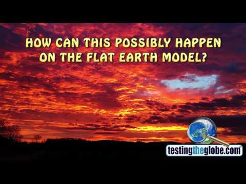 How can the sun possibly illuminate the bottoms of clouds on the flat Earth model?