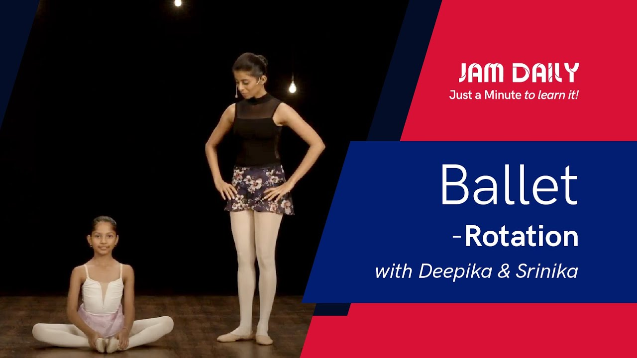 JAM Daily #185 | Just A Minute To Learn 'Ballet- Rotation' | Dance With Madhuri