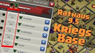 Clash of Clans | Rathaus 9,5 Kriegs-Base! | Reazor [Deutsch/German|HD]