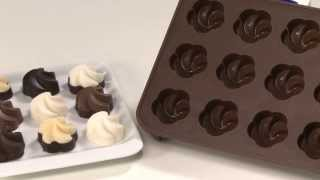Repeat youtube video Chocolate mould set TESCOMA DELÍCIA CHOCO, roses, stars, flowers, chocolate mix, Christmas themes