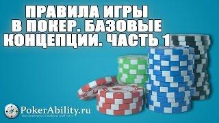 Покер обучение | Правила игры в покер. Базовые концепции. Часть 1