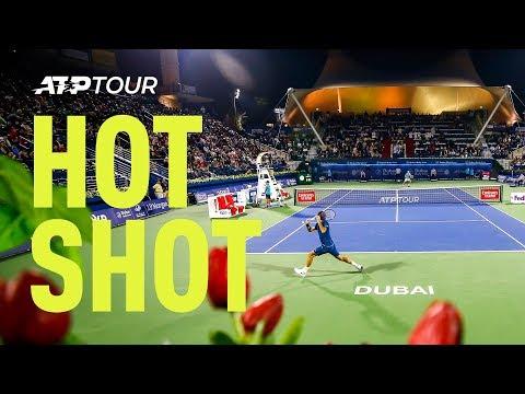 Hot Shot: Federer Hits Silky Drop Shot At Dubai 2019