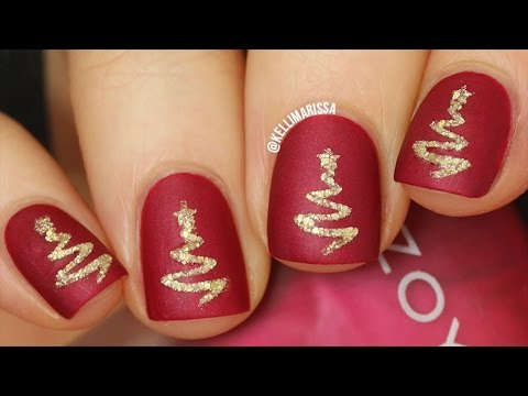 Easy elegant textured christmas tree nail art diy tutorial easy elegant textured christmas tree nail art diy tutorial kelli marissa youtube prinsesfo Choice Image