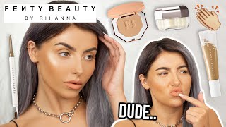 SHHHHHOOK.TESTING FENTY MAKEUP! FULL FACE OF FIRST IMPRESSIONS, HONEST REVIEW + WEAR TEST!