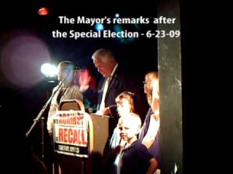 Mayor Don Plusquellic - remarks after special recall election 06-23-09