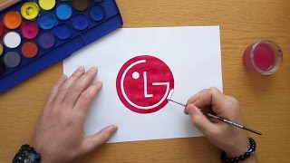 How to draw the LG logo (Logo drawing)