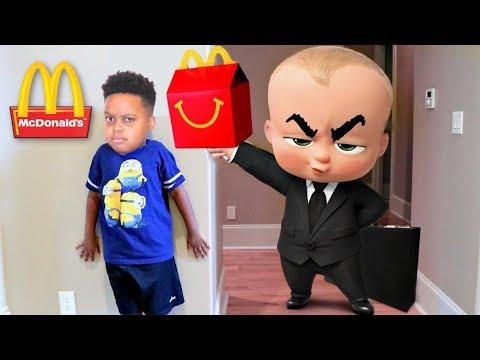 BOSS BABY McDonald's HAPPY MEAL vs Shiloh and Shasha! - Onyx Kids