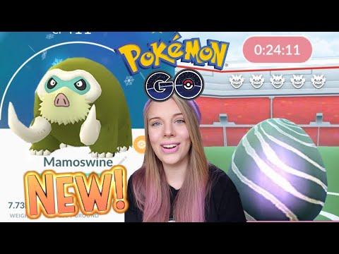 HOW TO GET SHINY MAMOSWINE IN POKEMON GO! + Legendary Raids and Research Breakthrough! thumbnail