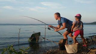 ЮНАЯ РЫБАЧКА Рыбалка с дочкой на Волге Чебоксарское водохранилище