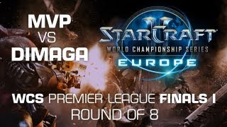 MVP vs. DIMAGA - Semi Finals - WCS Europe Premier League(Follow the whole series on http://wcs.esl.eu http://www.twitter.com/esltv http://www.twitter.com/starcraft., 2013-05-27T11:50:42.000Z)