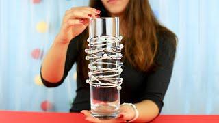Декор стеклянной вазы своими руками - мастер-класс