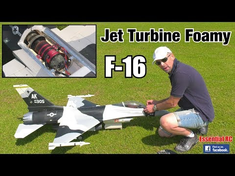 HSD JETS F-16 (TURBINE jet engine IN an EPO FOAM JET !)