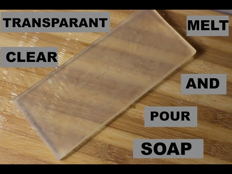 HOW TO MAKE TRANSPARENT CLEAR MELT AND POUR SOAP  NICOLE TV