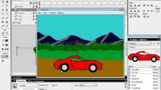 Flash Tutorial 5A Car on a Moving Landscape
