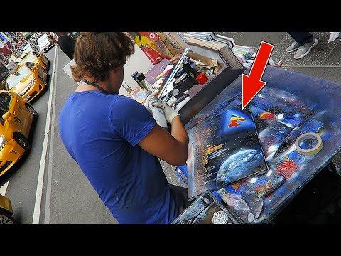 CRAZY NYC STREET ART!! (FaZe LOGO)