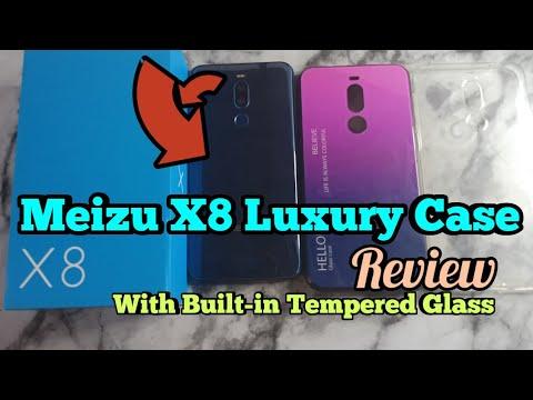 Meizu X8 Case Review | Rezzol Tempered Glass Silicone Bumper Hard Back Cover+Luxury Gradient+TPU
