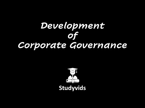 N0509B  Development of Corporate Governance