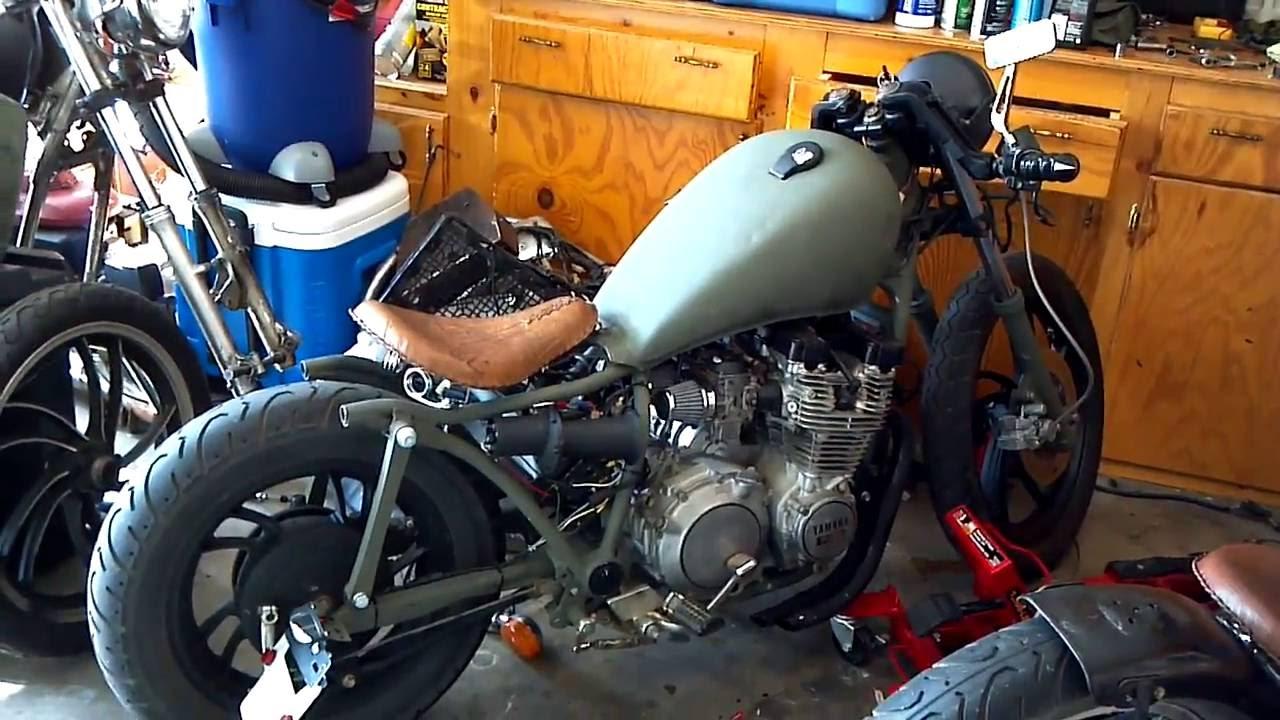 82 yamaha maxim xj750 bobber/cafe' racer - youtube