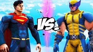 SUPERMAN VS WOLVERINE - EPIC BATTLE