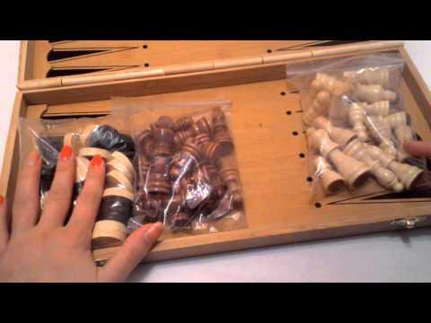 069888666.md Шахматы бамбук 3 в 1   40 см нарды шашки из натурального бамбука 3140