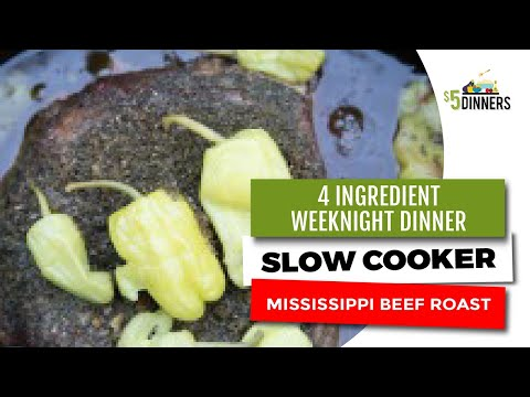 Slow Cooker Mississippi Beef Roast ~ Easy 4-Ingredient Weeknight Dinner