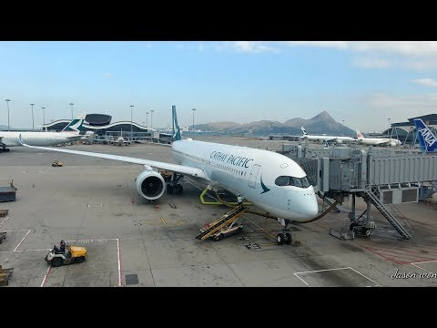 "Cathay Pacific Airways A350 Hong Kong to Taipei ""Full Flight"""