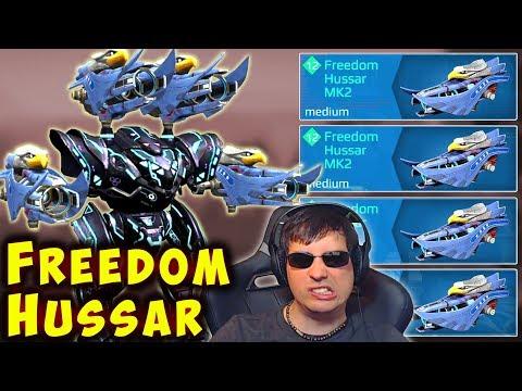 NEW FREEDOM HUSSAR Spectre Mk2 Sniper War Robots Gameplay WR