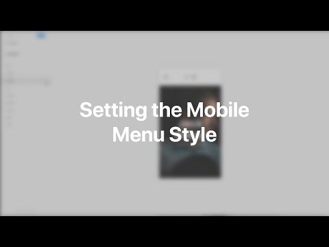 Setting The Mobile Menu Style | YOOtheme Documentation (Joomla)